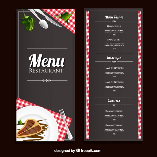 40 restaurant templates suitable for professional business