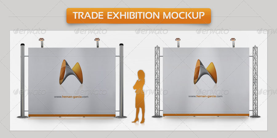 Exhibition Booth Free Download : Free trade show booth mock up in psd templates