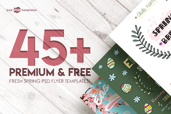 45+PREMIUM & FREE FRESH SPRING PSD FLYER TEMPLATES! | Free PSD Templates