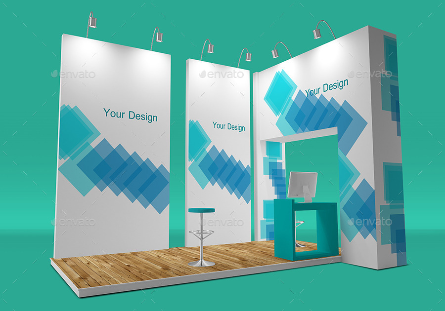 Exhibition Stand Mockup Free Download : Free trade show booth mock up in psd templates