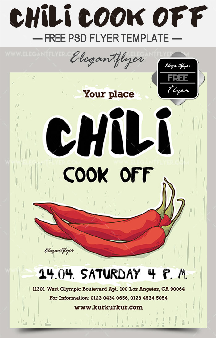 PREMIUM FREE FRESH SPRING PSD FLYER TEMPLATES Free PSD Templates - Chili cook off flyer template free