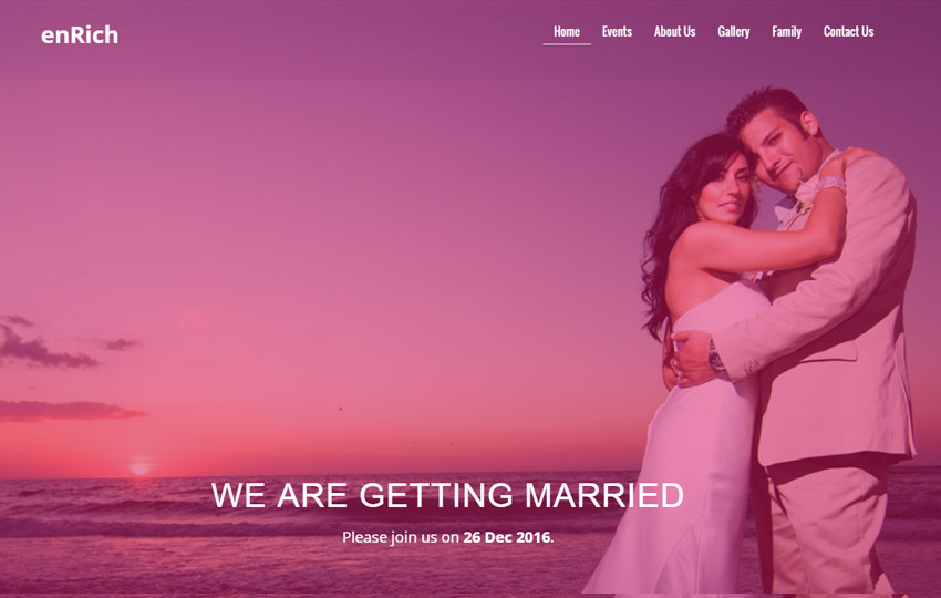 Enrich-Bootstrap-Free-Wedding-Website-Template