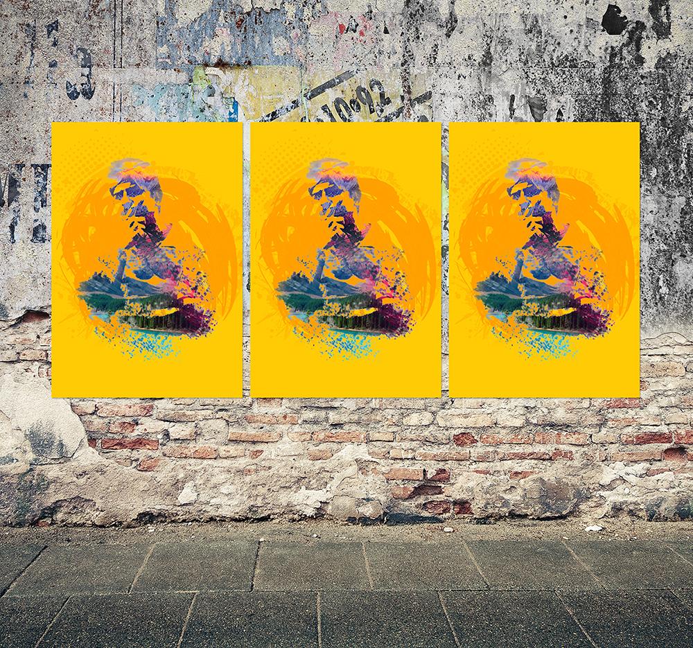 Free-Grunge-Poster-Mockup