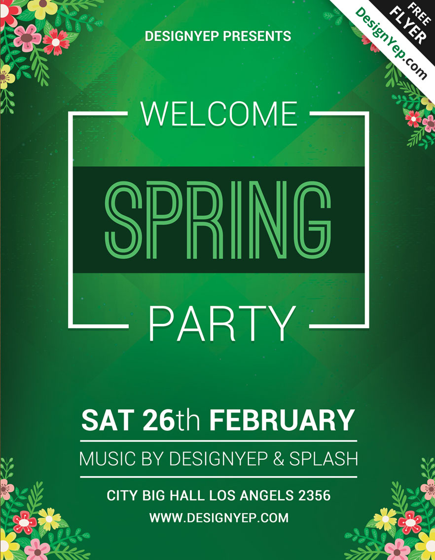 Free-Spring-Welcome-Party-Flyer-PSD-Template-4466-DesignYep