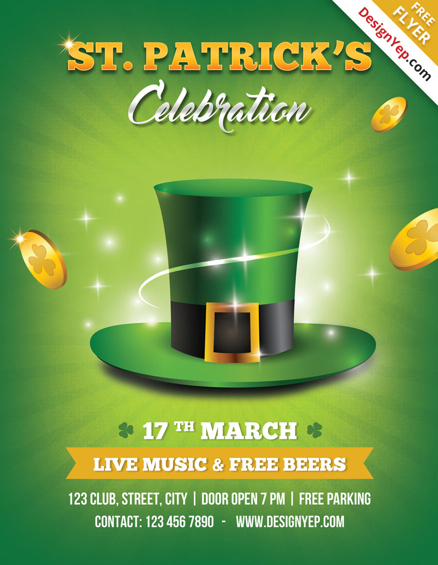 25 fresh spring psd flyer templates psd templates st patricks day flyer template psd