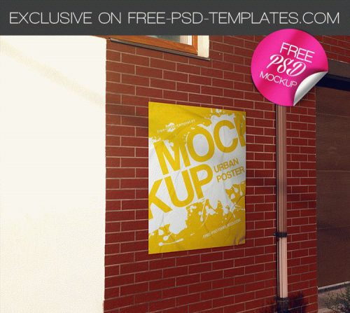39 Very Creative And Professional Free Psd Poster Mockups To Show Your Design Premium Version Free Psd Templates