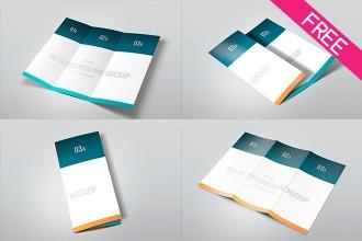 FREE Tri-Fold MockUp PSD Template