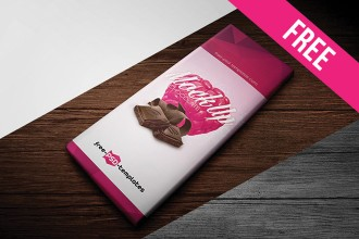 Free Chocolate Package Mock-up in PSD