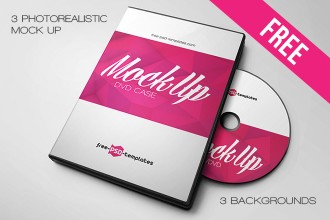 Free DVD case mockup in PSD