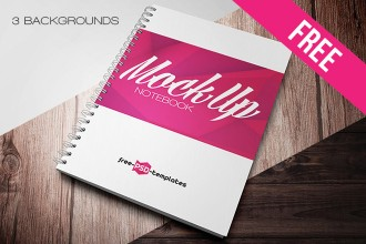 Free Notebook Mock-up in PSD