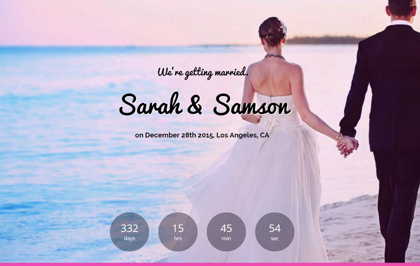 The-Best-Wedding-Free-Bootstrap-Template