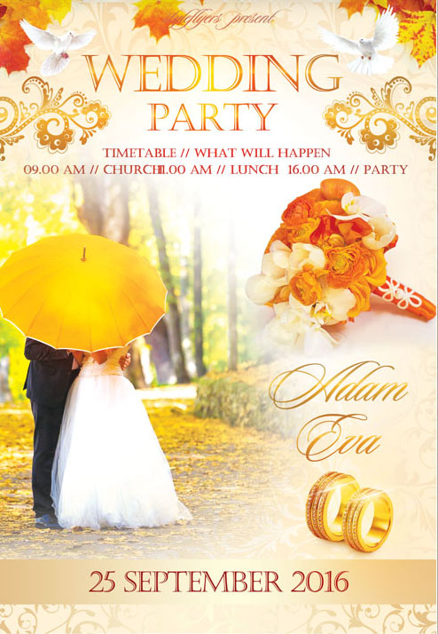 40 free must have wedding templates for designers free psd templates wedding party flyer template bfgfg10 reheart