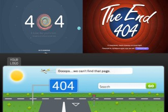 20 Free 404 Error Pages to complete design!