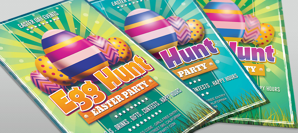 25 Fresh Spring PSD Flyer Templates – Easter Flyer Template