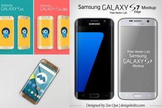 15+ modern Samsung MockUps in PSD & Vector format!