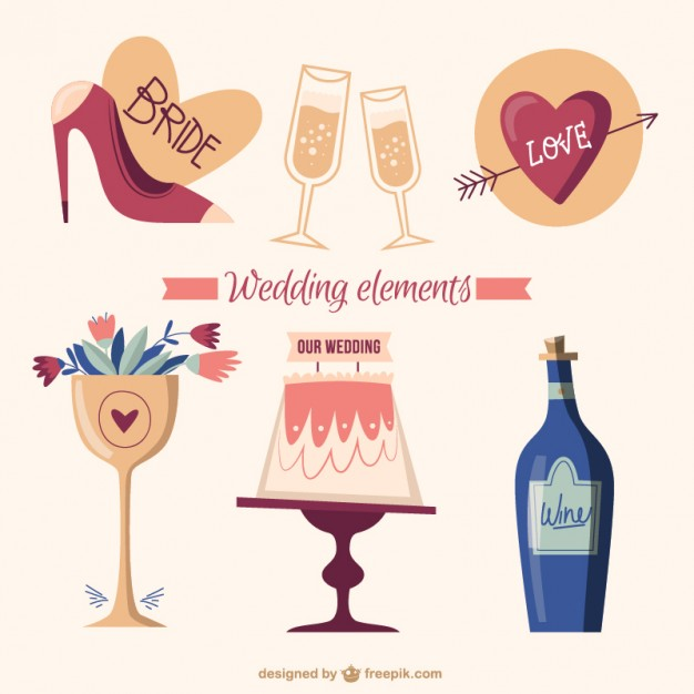 hand-drawn-lovely-wedding-elements_23-2147542717