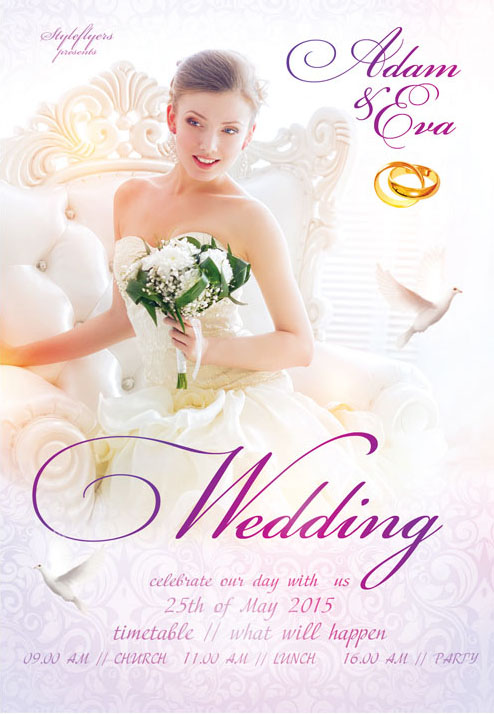 Free Must Have Wedding Templates For Designers  Free Psd Templates