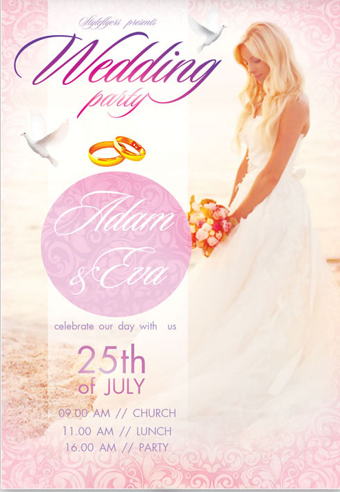 Free Must Have Wedding Templates For Designers  Free Psd