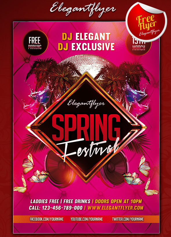 Fresh Spring Psd Flyer Templates  Free Psd Templates