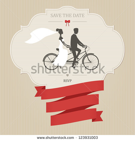 stock-vector-vintage-wedding-invitation-with-tandem-bicycle-and-place-for-text-123931003