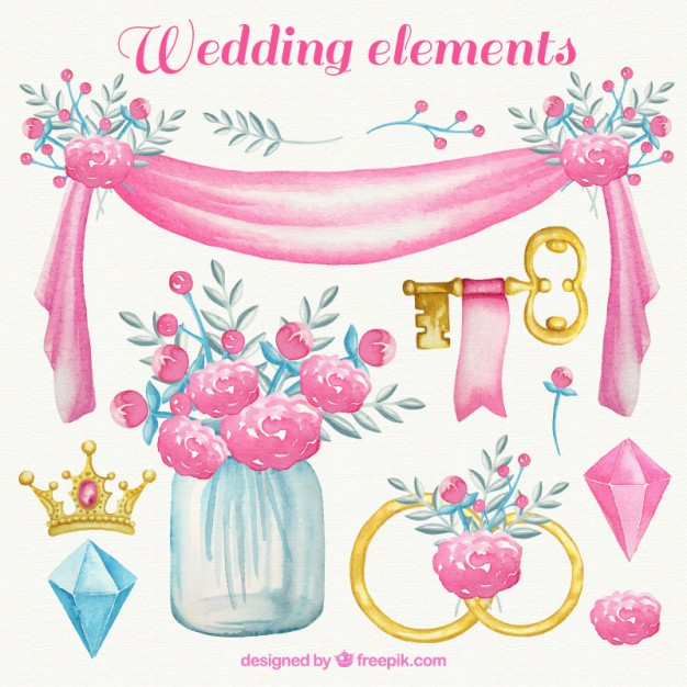 watercolor-wedding-elements-in-pink-tones_23-2147542885