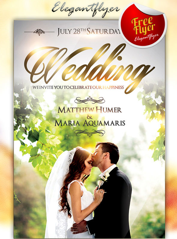 Free Must Have Wedding Templates For Designers Free PSD Templates - Photoshop wedding program template