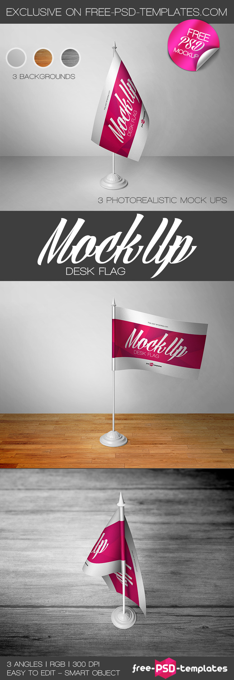 Pics photos desk with flag in background photographic print by - Bigpreview_3 Free Desk Flag Mock Ups In Psd