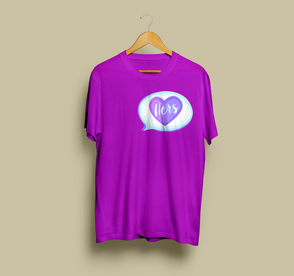 For-Her-Love-Free-T-Shirt-Design-Template