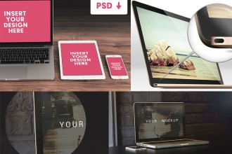 30+ PSD MacBook Mockups for your imagination!