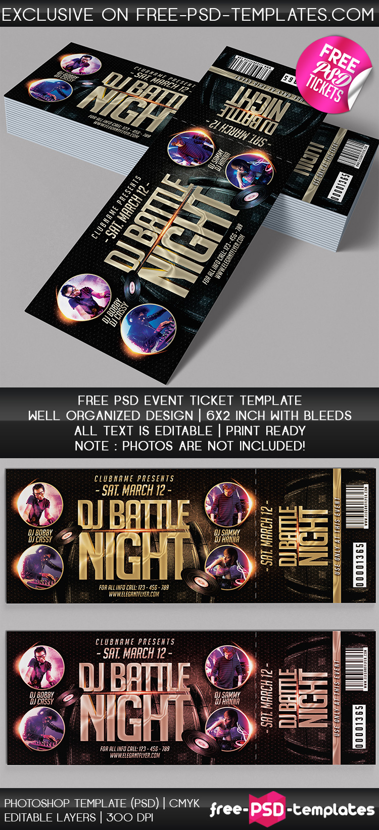 Free PSD Event Tickets Free PSD Templates - Free event ticket template