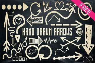 FREE 30 Hand Drawn Arrows IN PSD