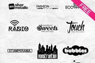 Free 15 Minimal Logos IN PSD