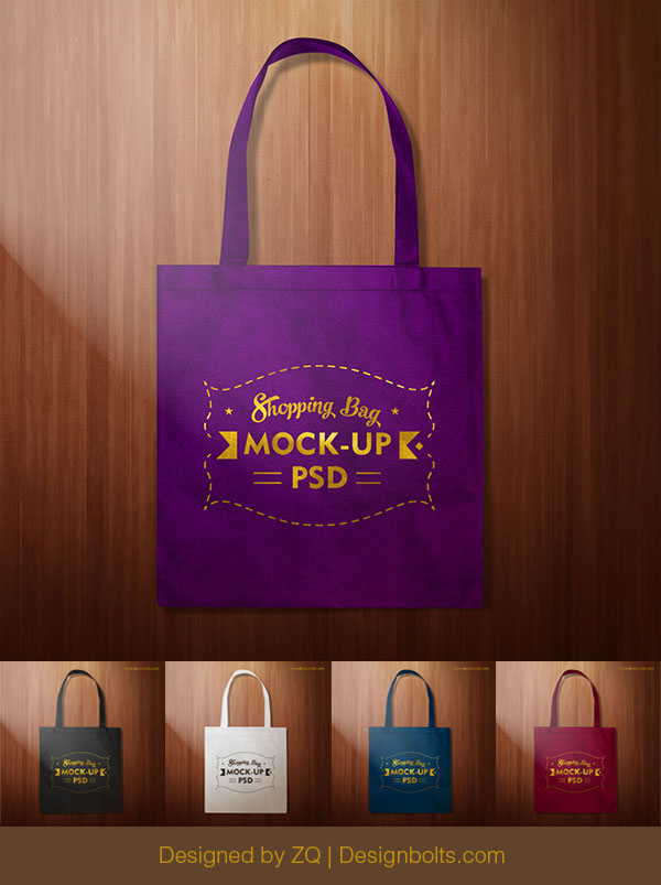 Simple-plain-black-Shpping-bag-Mockup-PSD-F