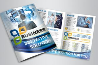 Free Corporate Business PSD Bi-Fold Brochure