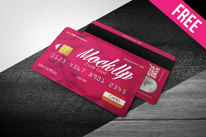 Free Credit Card Mock Up In Psd Free Psd Templates