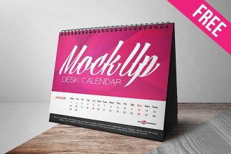 Free Desk Calendar Mock-up in PSD