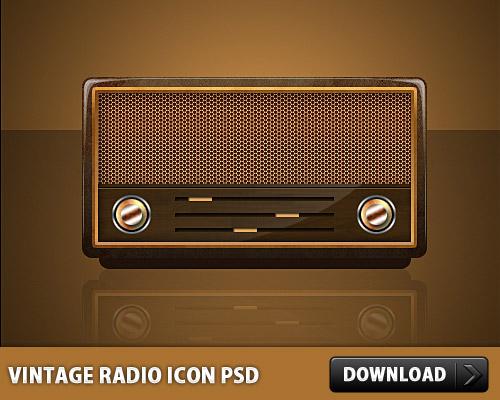 Vintage-Radio-Icon-PSD-L