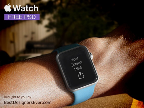 Apple Watch PSD Template Free