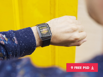 9 Free Apple Watch Mockups Free