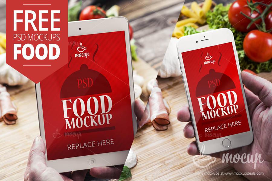 free-2-psd-mockups-food-ipad-mini-iphone6-mocup-2