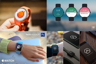 28+ Free PSD stylish Smart Watches Mockups!