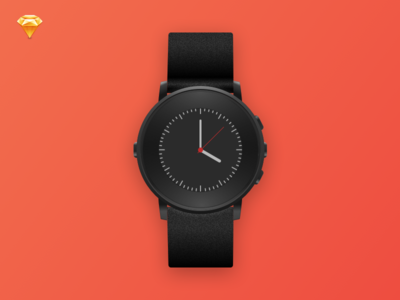 Pebble time Round Sketch Template Free