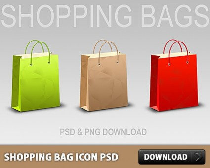 shopping_bag_icon_free_psd_165210