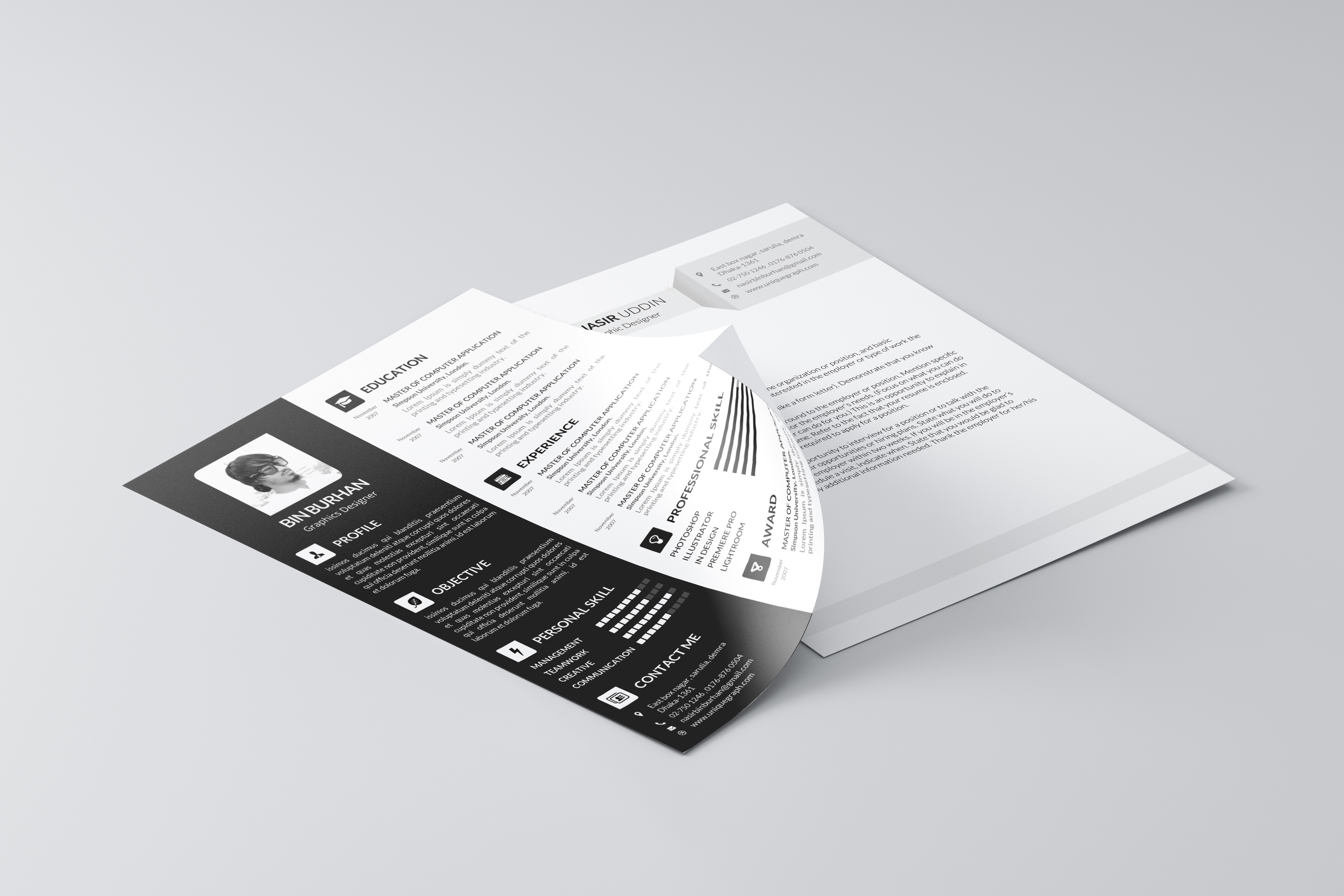 cv resume professional timeless templates psd resume template