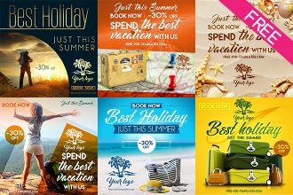 FREE 10 Travel Banners IN PSD