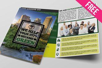 Free PSD Bi Fold Brochure Template