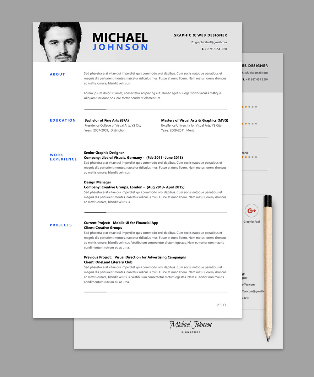 resume template - Professional Resume Template
