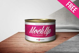 Free Can Preserve Mock-up in PSD