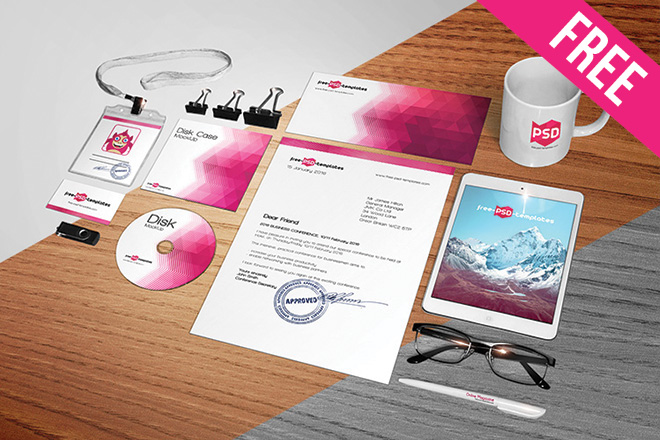 free corporate identity mock-up in psd | free psd templates, Powerpoint templates