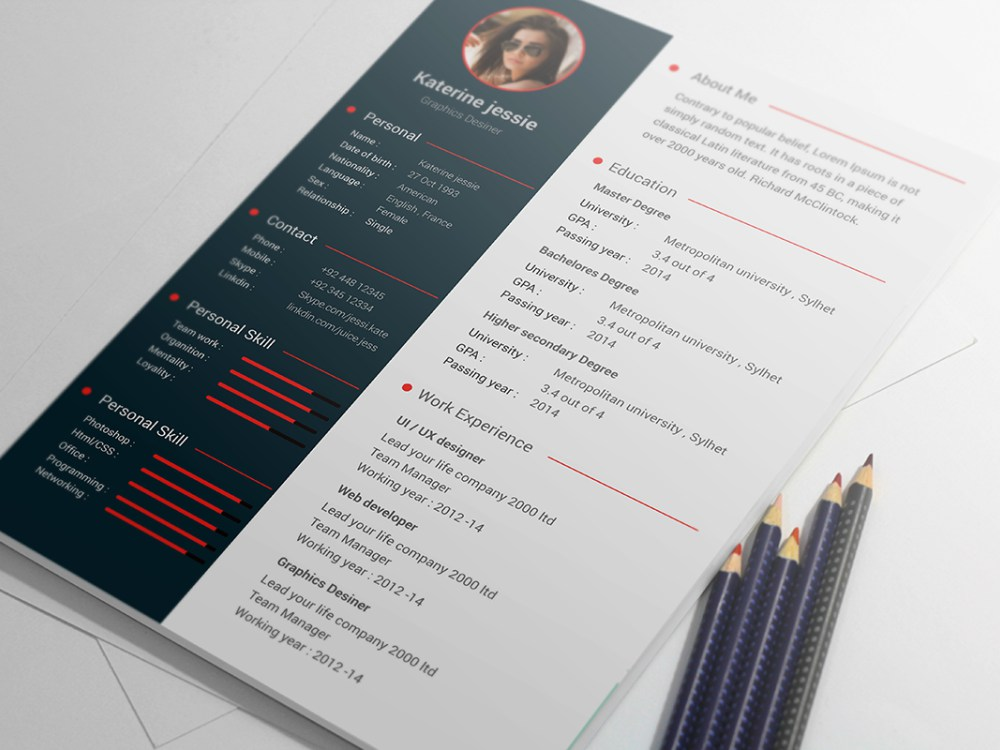 Free Cv Resume Professional Timeless Templates  Free Psd